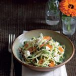 Salted & Lemoned Raw Zucchini, Fromage Blanc & Grated Almond