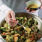 DINNER SOLVED!: Warm Brussels Sprouts with Bacon and Mustard Vinaigrette