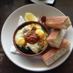 THE VEGETABLE BUTCHER's Baked Eggs and Braised Collards