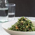 Kale Salad with Currants, Pine Nuts, and Lemon-Thyme Vinaigrette