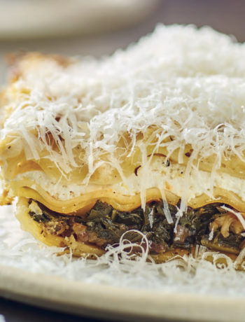 kale and mushroom lasagna