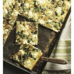 Sheet Pan Quiche with Spinach, Goat Cheese, and Caramelized Onions