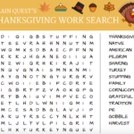 BRAIN QUEST'S Thanksgiving Word Search