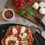Pizza Margherita with Waffled Crust